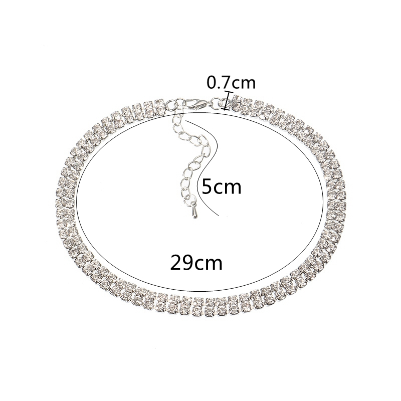 3 Styles Sexy Shiny Rhinestone Necklace Simple Zinc Alloy Choker Clothing Accessories