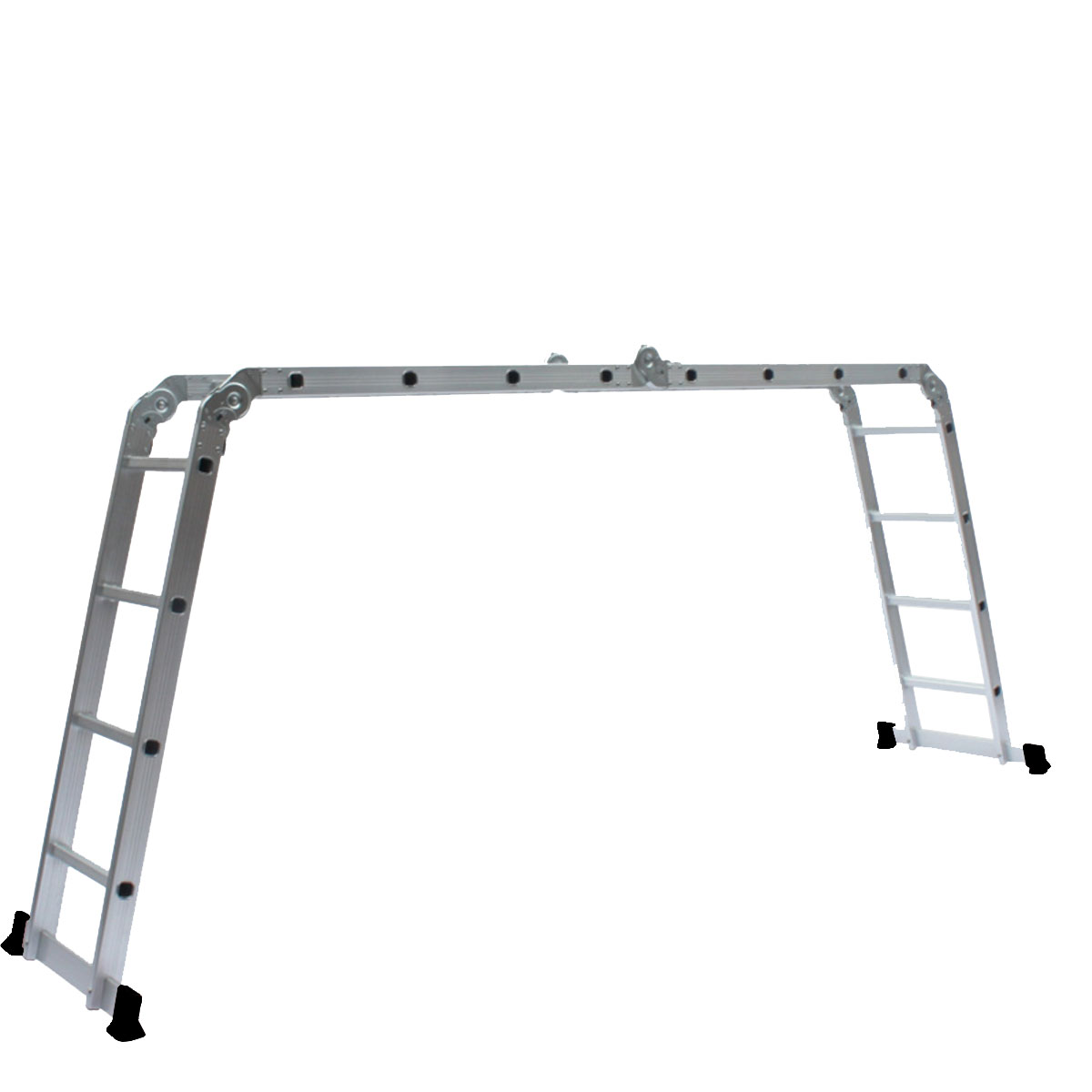 4.7M Multipurpose Aluminum Alloy Ladder 4Fold x 4Steps Ladder Scaffold Extendable
