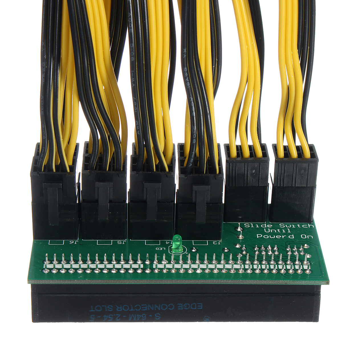 DPS-1200FB Power Supply Adapter Board With 10 Pcs 6+2P Cable For Ethereum Mining