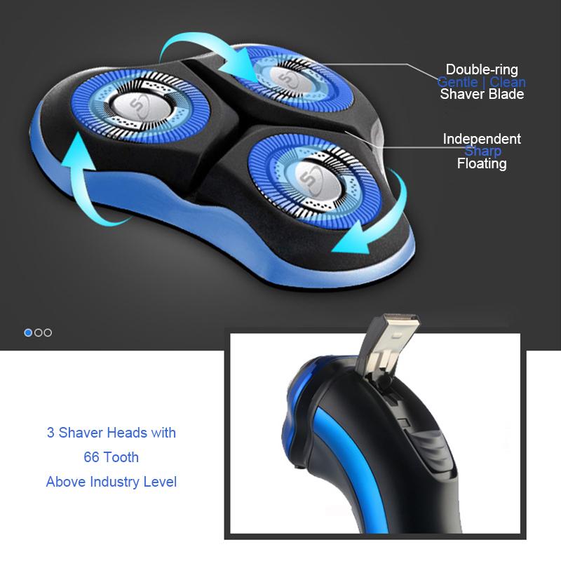 Global Voltage IPX7 Full Body Washable Electric Shaver Razor
