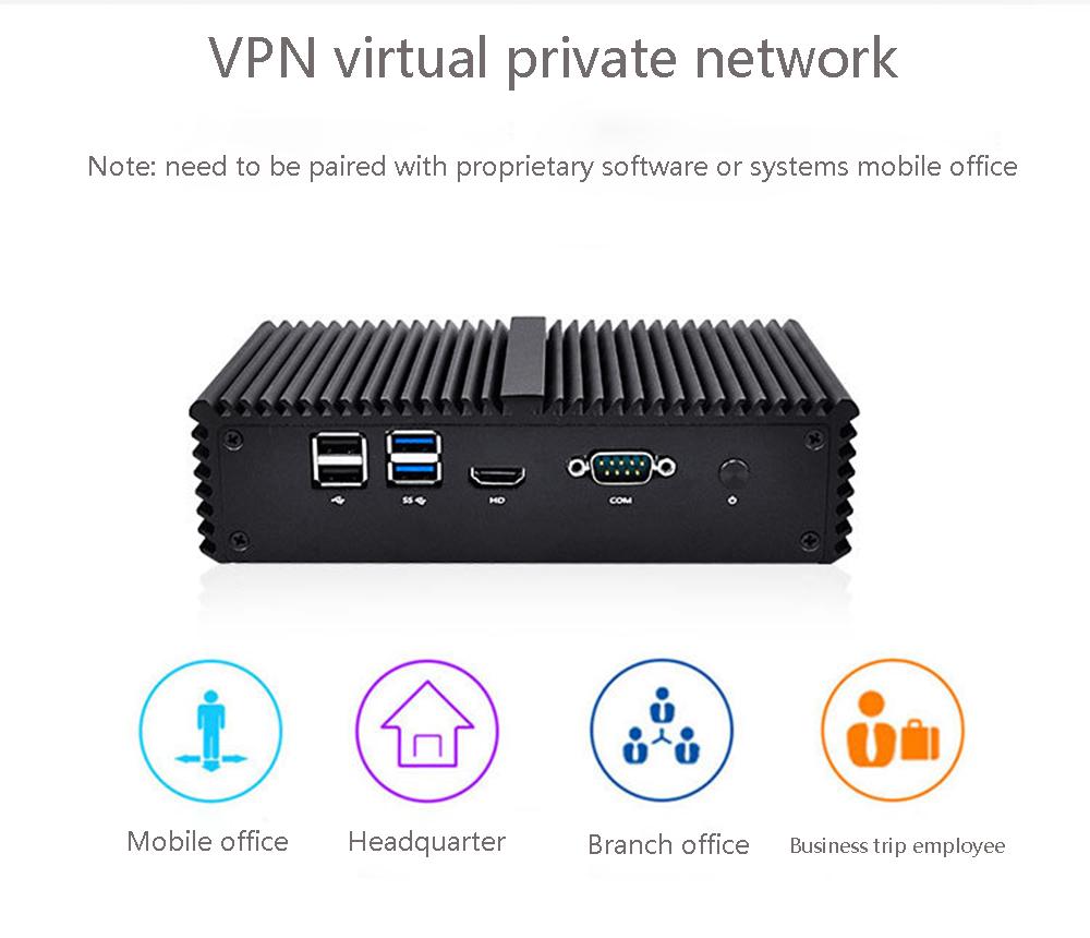 QOTOM Mini Pc Core I5-5200U 4GB+64GB/8GB+128GB 4 Gigabit Ethernet Machine Micro Industrial Q355G4 Multi-network Port