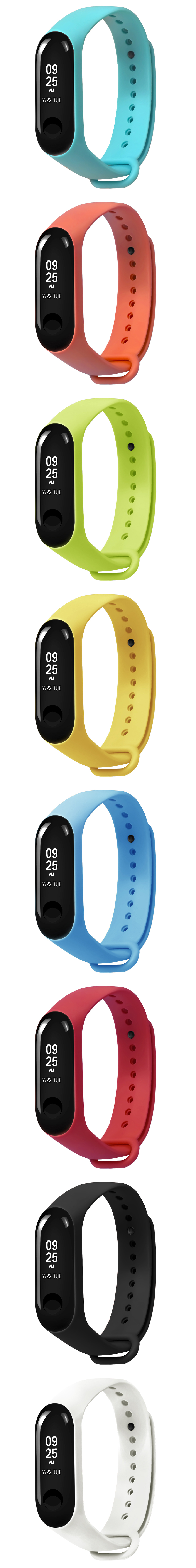 Colorful TPE Watch Band Replacement for Xiaomi Miband 3