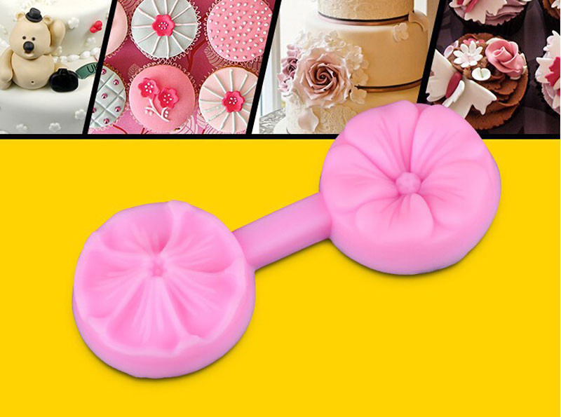 3D Cherry Shaped Silicone DIY Cake Mold Fondant Flowers DIY Cake Decorating Tool