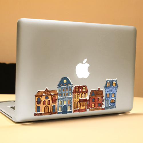 PAG House Decorative Laptop Decal Removable Bubble Free Self-adhesive Partial Color Skin Sticker