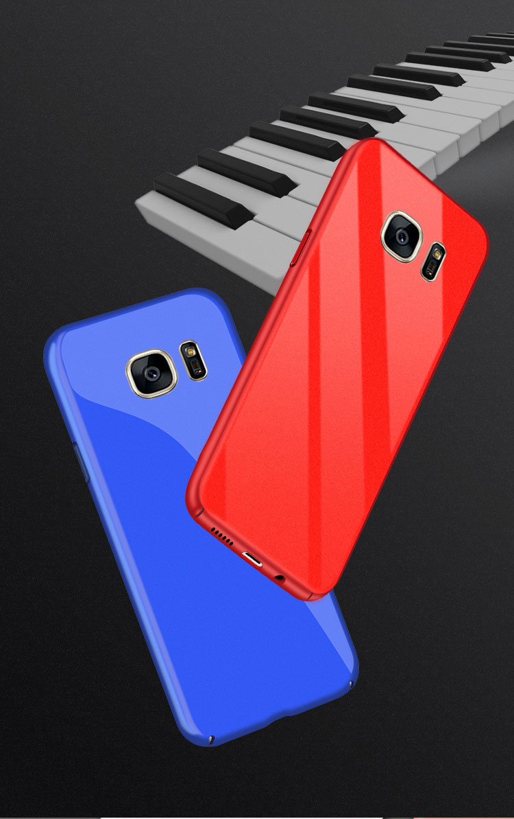 Bakeey Piano Paint Glossy Hard PC Protective Case for Samsung Galaxy S7
