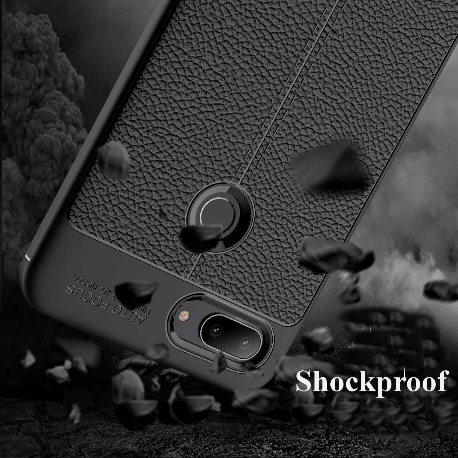Bakeey™ Litchi Pattern Shockproof Soft TPU Cover Protective Case for Xiaomi Mi 8 Lite 6.26 inch