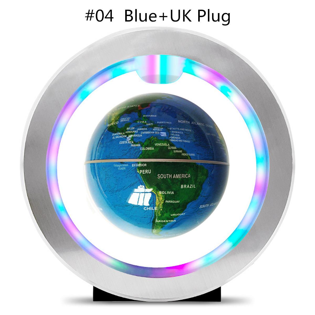Floating Globe World Map Rotating O Shape Magnetic Levitation Ball Kid Gift With LED Toys