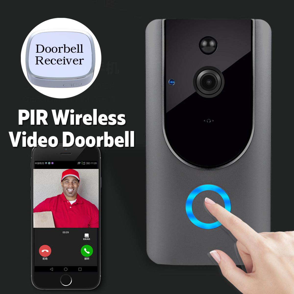 Wireless PIR Video Doorbell Visiable Night Vision Home Smart Intercom + Receiver