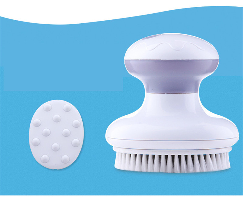 4 IN 1 Electric Bath Cleansing Brush Vibration Face Body Cleaning Massager Waterproof SPA Relaxation Massage Battery Powered Bath Brush