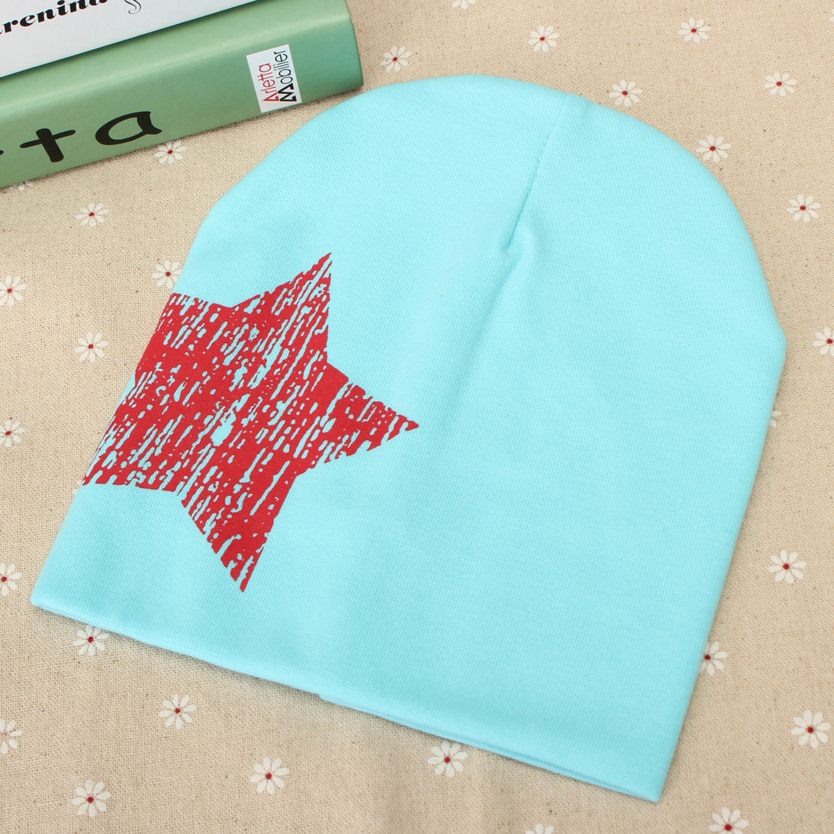 Unisex Cute Baby Toddler Kid Star Print Hat Girls Boys Beanie Cap Hat 7-36 Months