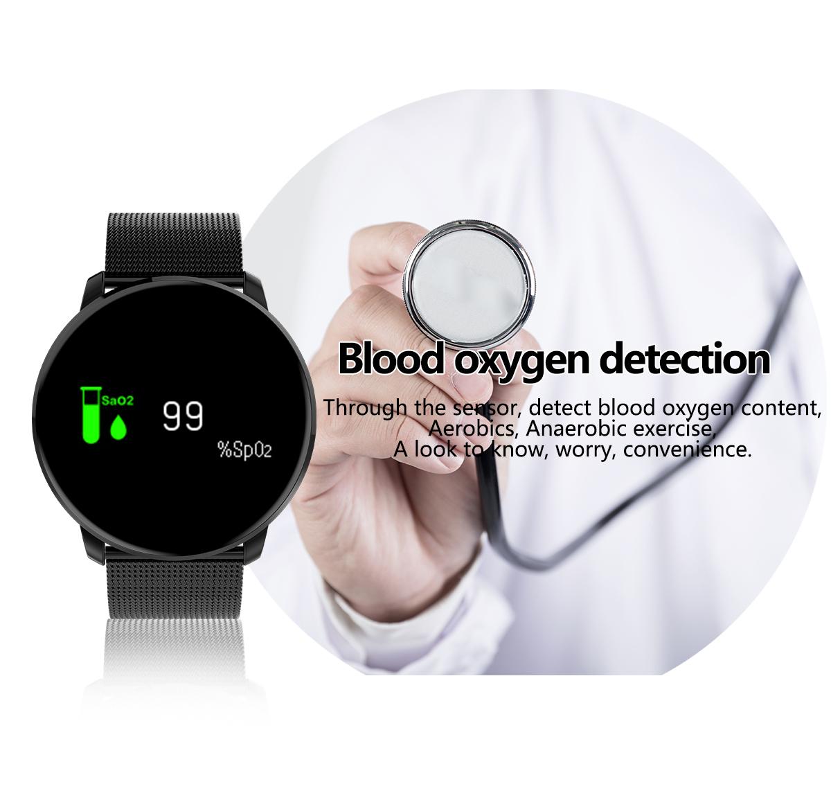 LYNWO M9 0.96inch Heart Rate Blood Oxygen bluetooth Smart Bracelet