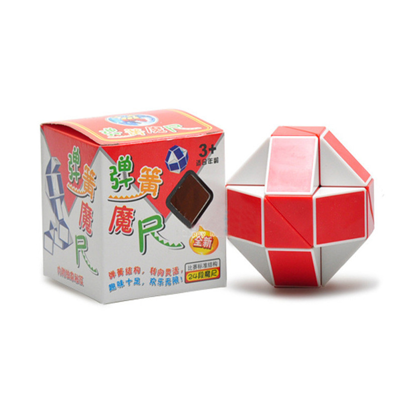Multicolor Speed Fidget 24 Variety Magic Feet Snake Shape Toys Game Twist Cube Puzzle For Kids Gift