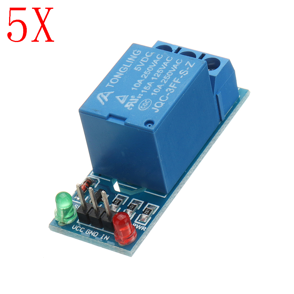 5pcs 5v Low Level Trigger One 1 Channel Relay Module In For Sale Circuit