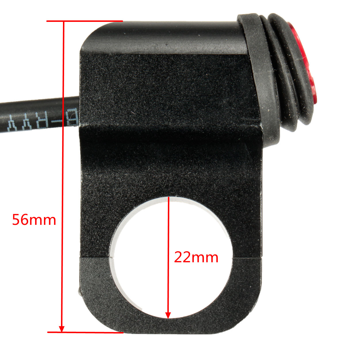12V 16A Motorcycle Handlebar Grip Light Switch Aluminum Alloy Waterproof with Indicator
