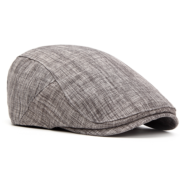 Mens Cotton Casual Beret Hat Adjustable Newsboy Cabbie Golf Gentleman Cap