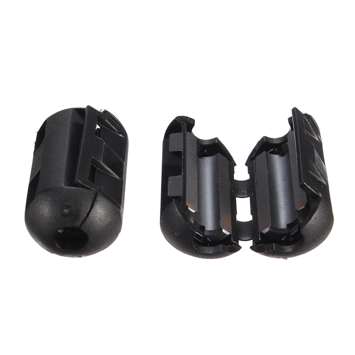 5Pcs 3.5mm Black Cable Wire Snap Clamp Clip RFI EMI EMC Noise Filters Ferrite Core Case