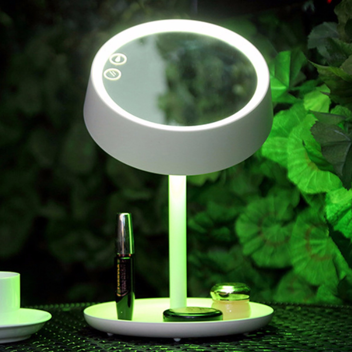 180° USB LED Makeup Mirror with 7 Kinds of Natural Lights Chargeable Stand Mirrors Desk Lamp