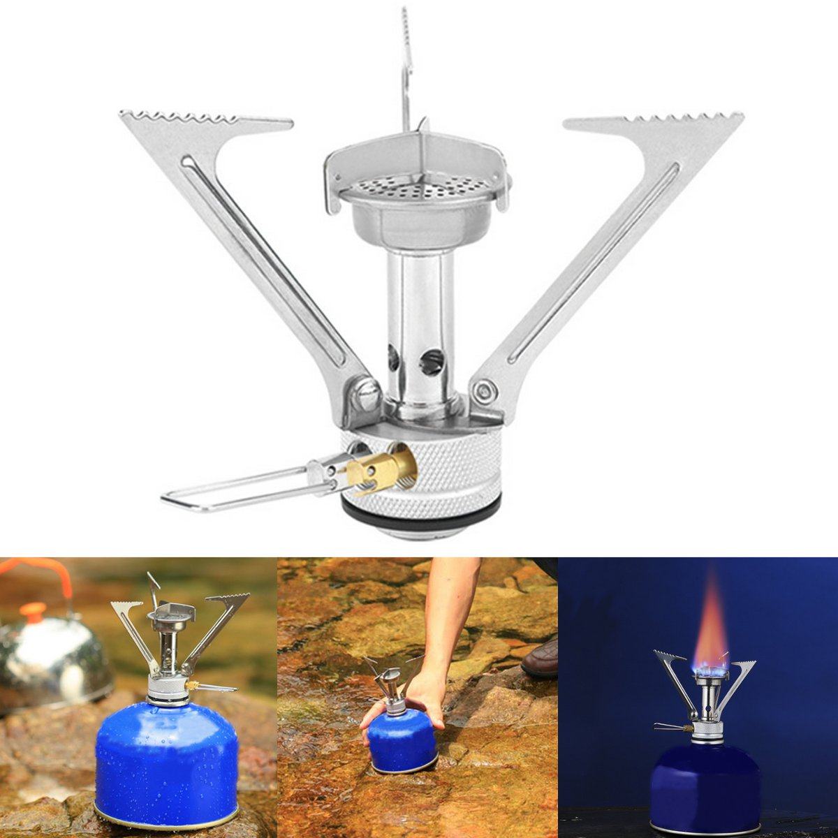 IPRee™ Portable High Altitude Gas Cooking Stove Camping Travel Mini Furnace Utensil Cookware