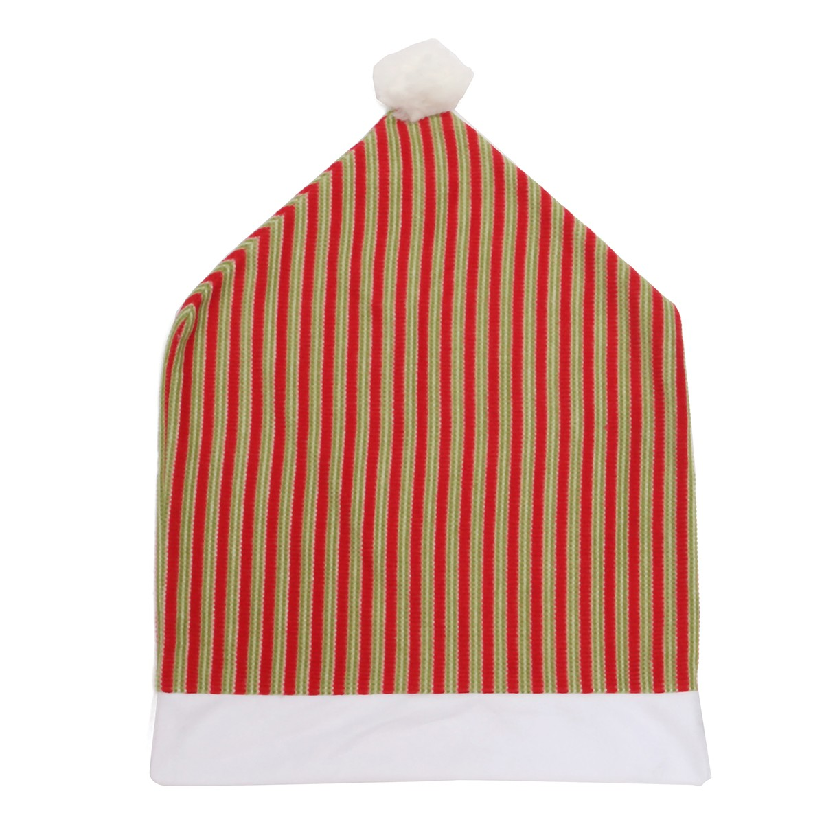 70x50cm Christmas Vertical Stripes Chair Seat Cover Hotel Dining Room Wedding Kitchen Decor