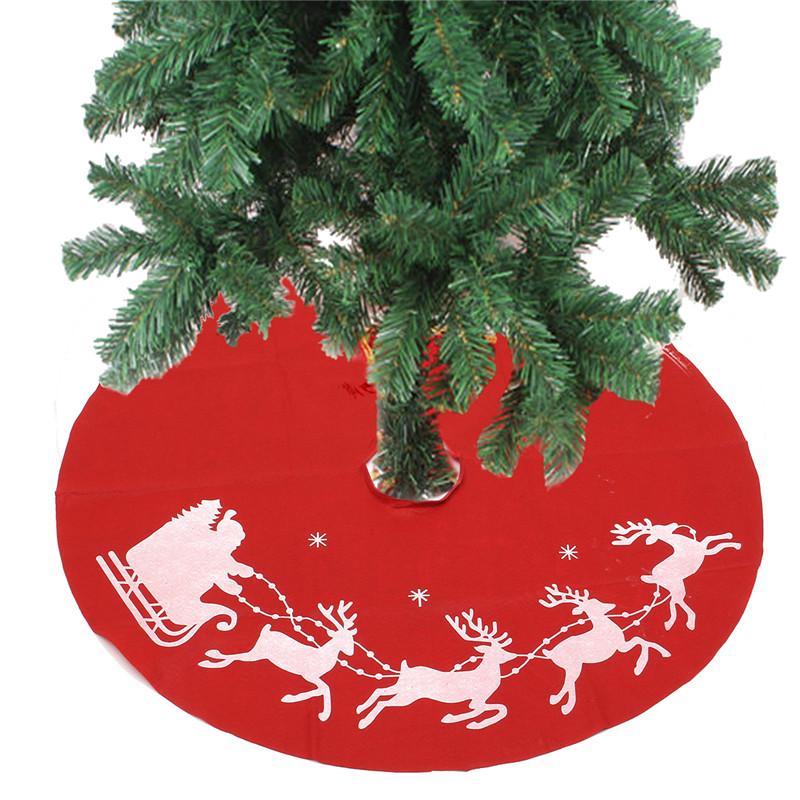 100cm Red Christmas Tree Skirt Santa Claus Tree Skirt Christmas Decoration Supplies Ornament