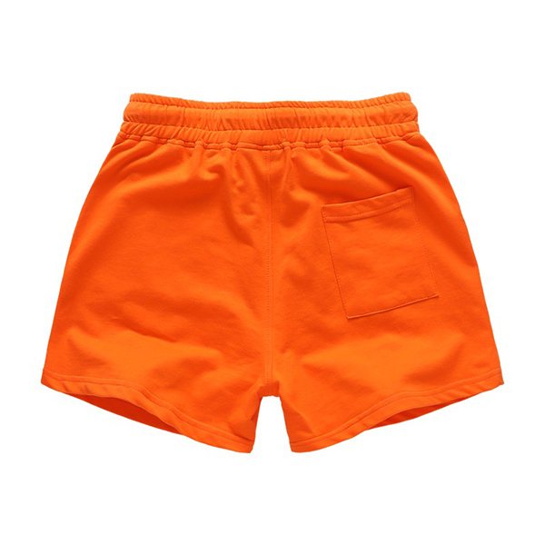 Summer Mens Pure Colors Cotton Shorts Breathable Drawstring Sports Casual Shorts