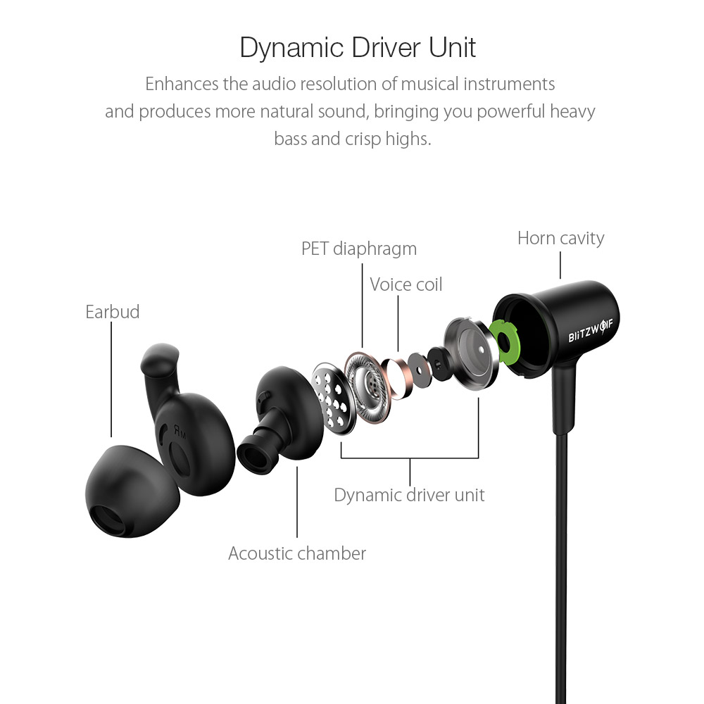 Blitzwolf® BW-BTS1 Sport bluetooth Earphone Headphone IPX4 Waterproof Magnetic Adsorption With Mic