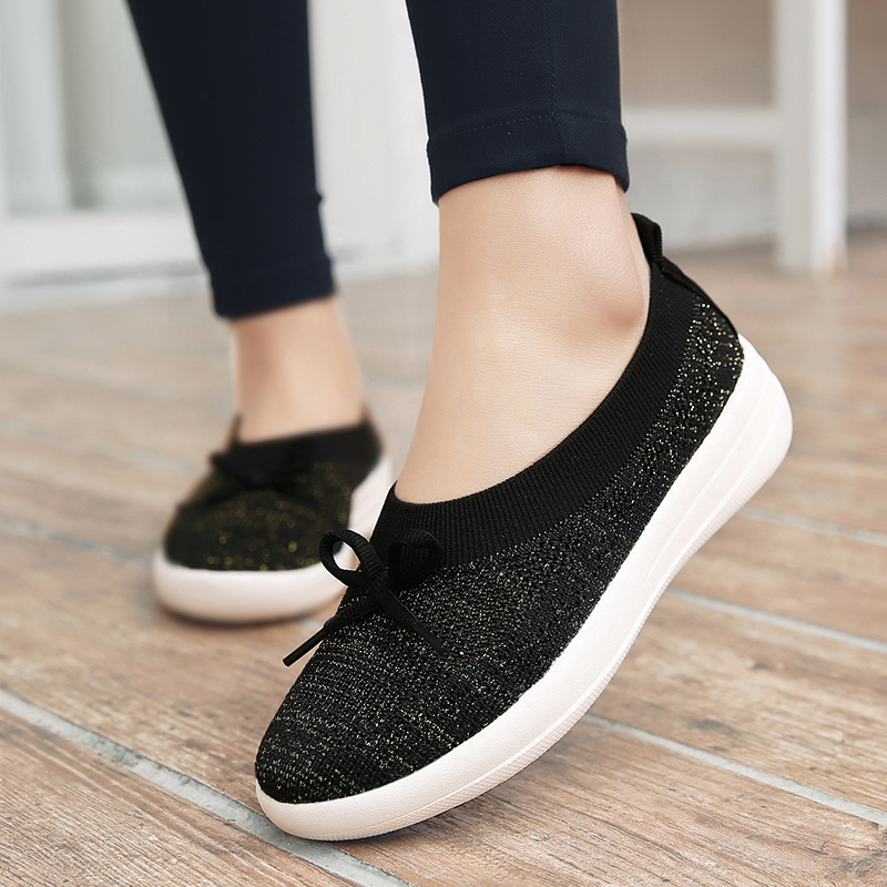 Women Breathable Knitting Outdoor Flats