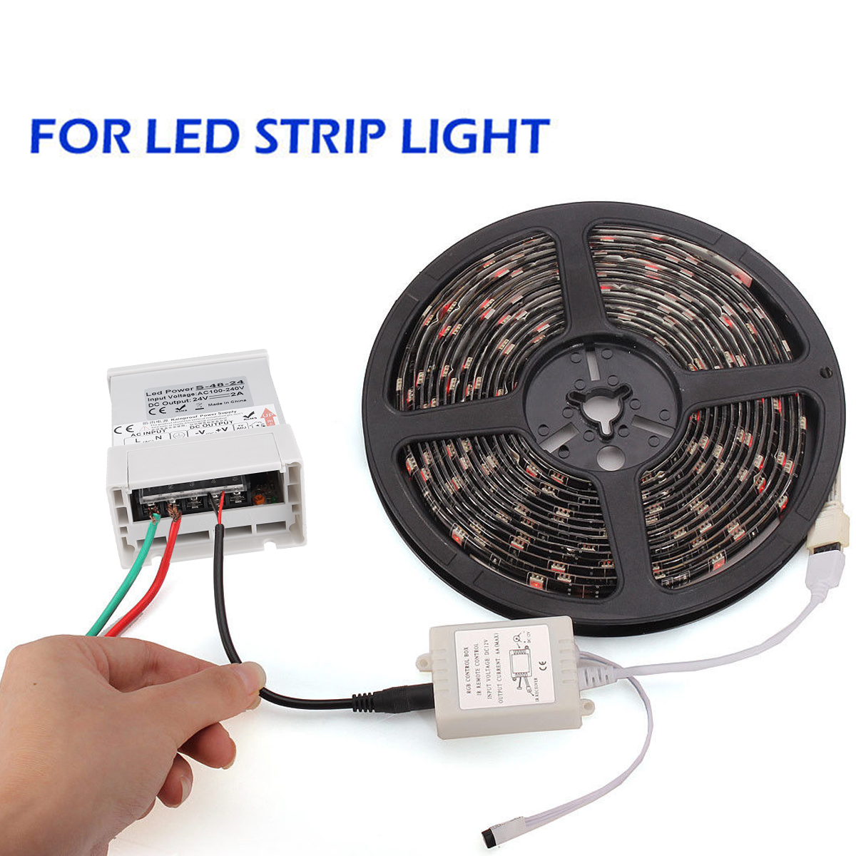 DC 24V Universal Regulated Switching Power Supply Driver LED Strip Light Waterproof 48W-400W