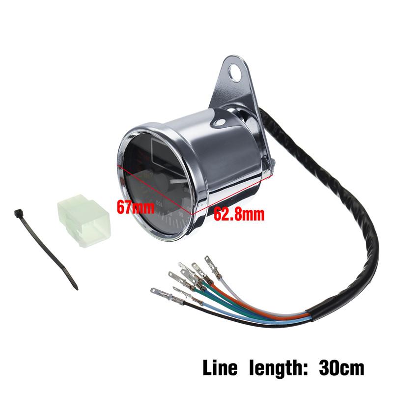 Motorcycle LCD Odometer Multifunctional Fuel Gauge Headlight Turn Signal Display Meter