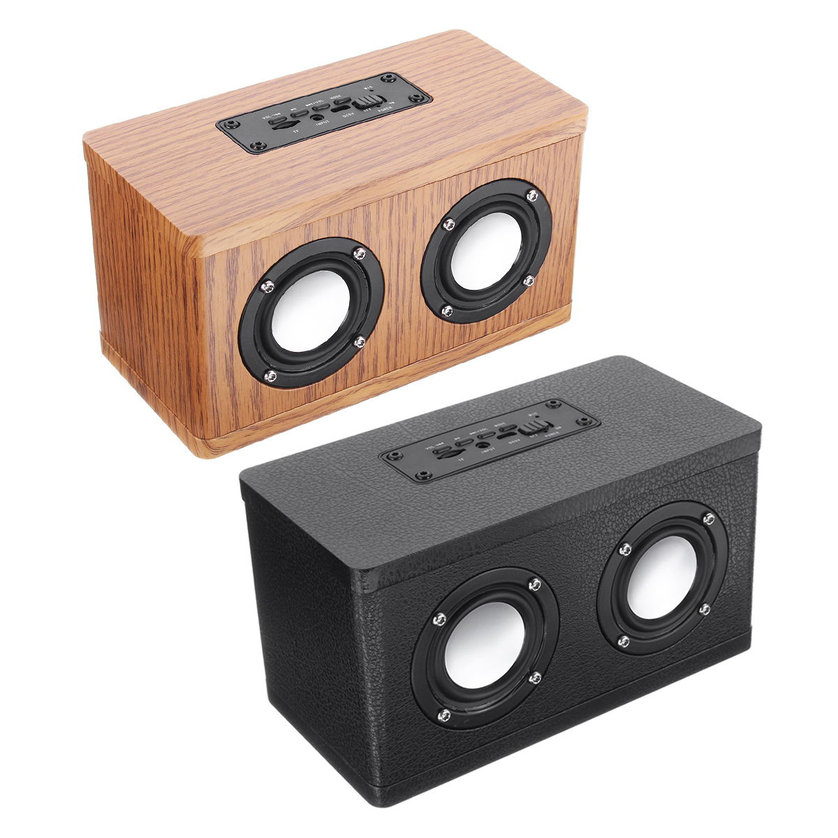 W10 Wood bluetooth Wireless Sound Grain Portable Speaker 12W Support TF Card AUX