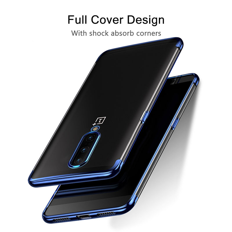 Bakeey Plating Transparent Shockproof Soft TPU Back Cover Protective Case for OnePlus 7 PRO