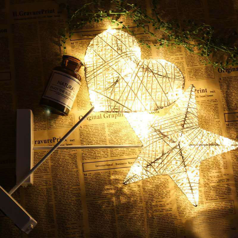 Christmas LED Rattan Table Mini Night Light Desk Lamp Wedding Bedroom Christmas Decor Gifts