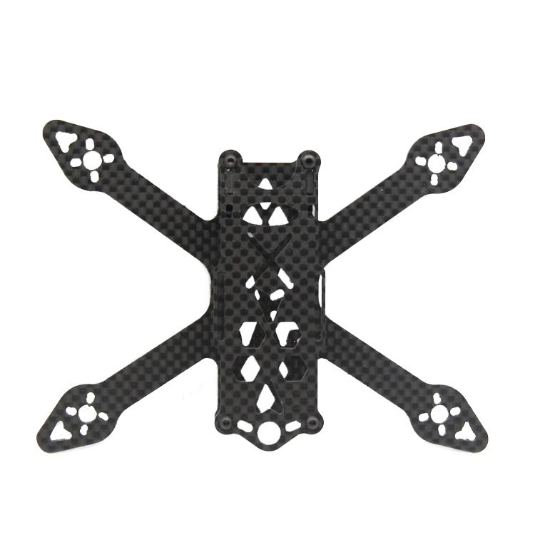 GP120 120mm Micro FPV Racing Frame Kit Carbon Fiber Supports Runcam Micro Swift 2 2540 Propellers - Photo: 4