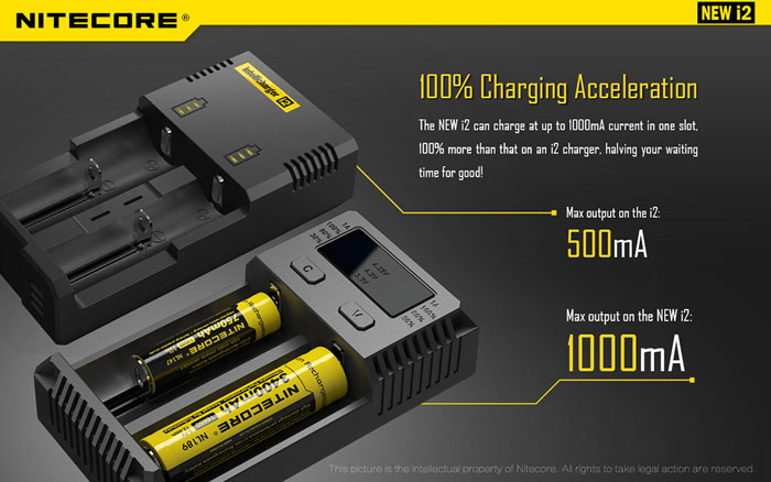 Nitecore Intellicharger NEW i2 Battery Charger For Li-ion/IMR/LiFePO4/Ni-MH Battery