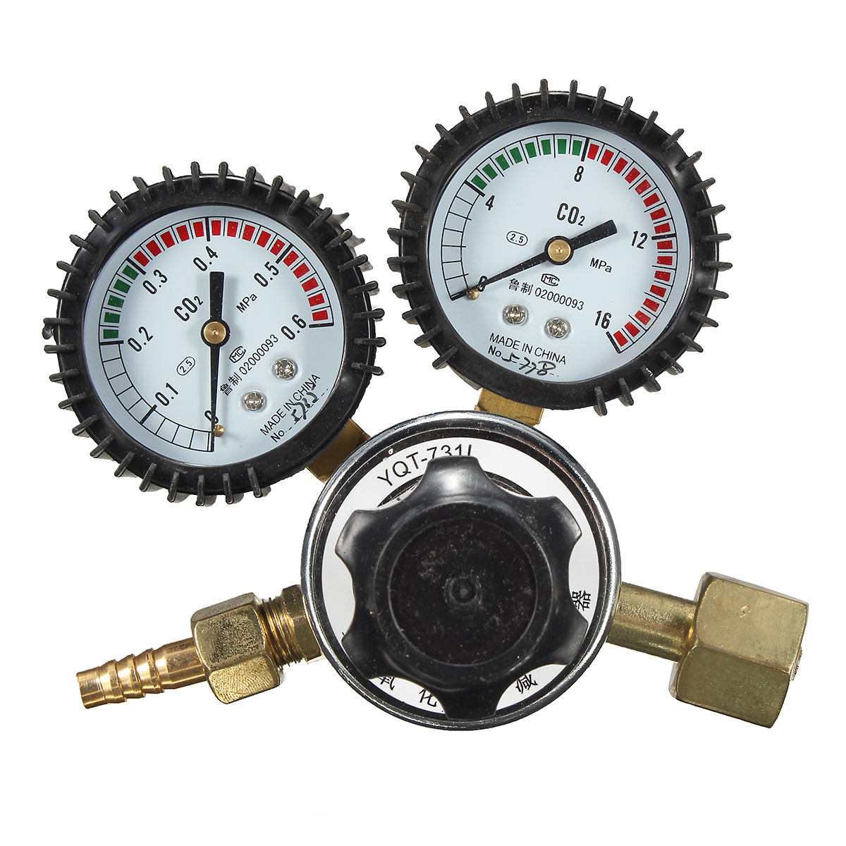 Seismic Double Watch CO2 Pressure Reducing Decompression Valve Flow Meter Tools