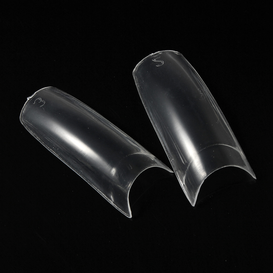 500pcs Clear French Acrylic False 3D nail Tips Nail Art