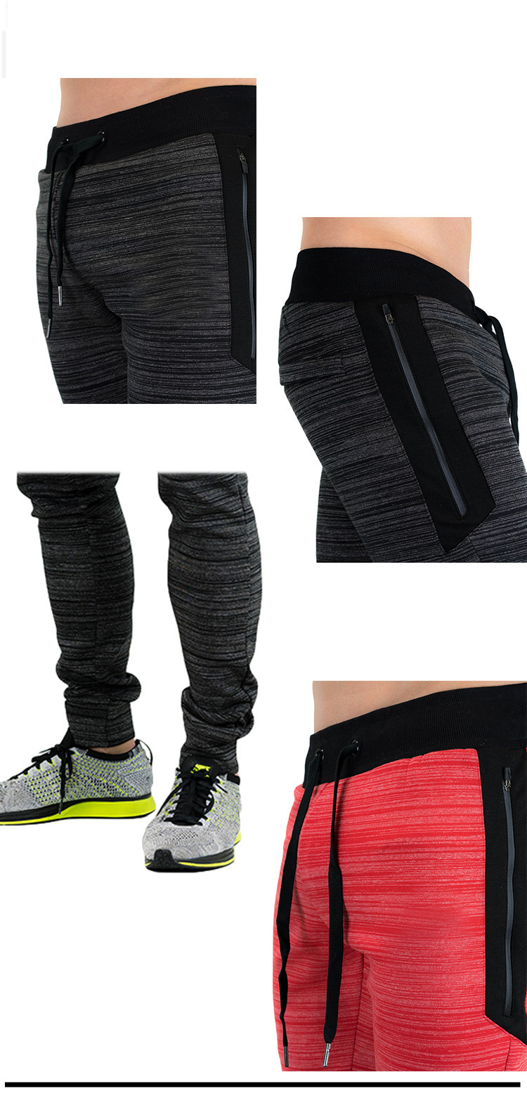 Gym Fitness Drawstring Elastic Waist Spots Pants