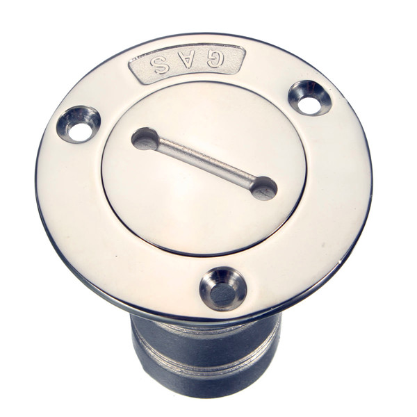 1.5inch Boat Marine Deck Fill Filler Keyless Cap Gas Fuel Tank 316 Stainless Steel