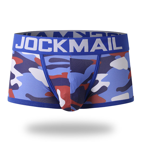 Mens Sexy Camo Printing Low Rise Breathable Cotton Boxers