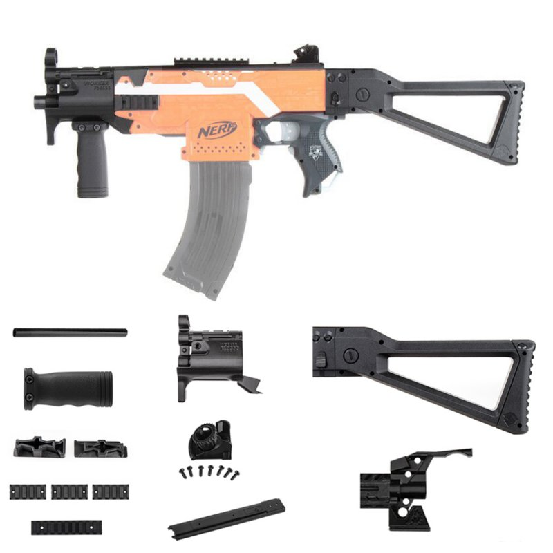 WORKER MOD F10555 MP5K 3D Print Kit For Nerf Modify Stryfe Elite Retaliator Blaster Toy