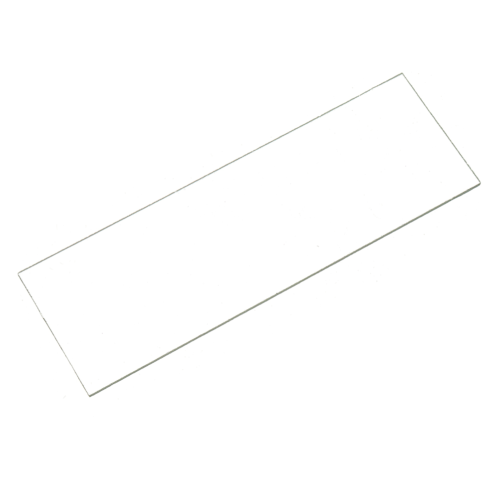 50Pcs Glass Slide Plate Panel Ground Edge Microscope Biology Experiment Glass Sheets