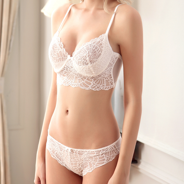 Ultra Thin Sexy Lace Embroidery Bra Sets