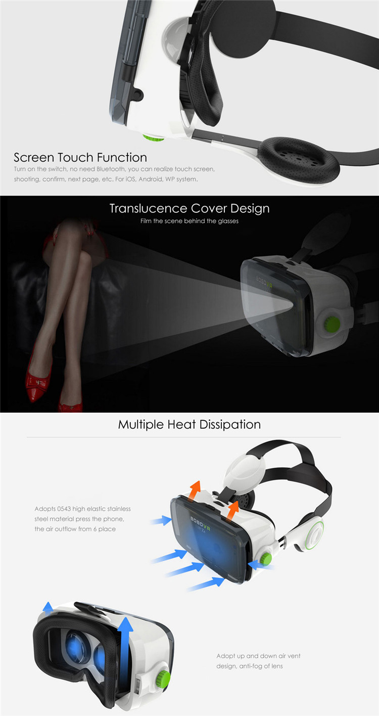Xiaozhai BOBOVR Z4 3D Virtual Reality VR Immersive Game Video 120 Degrees Glasses Private Theater