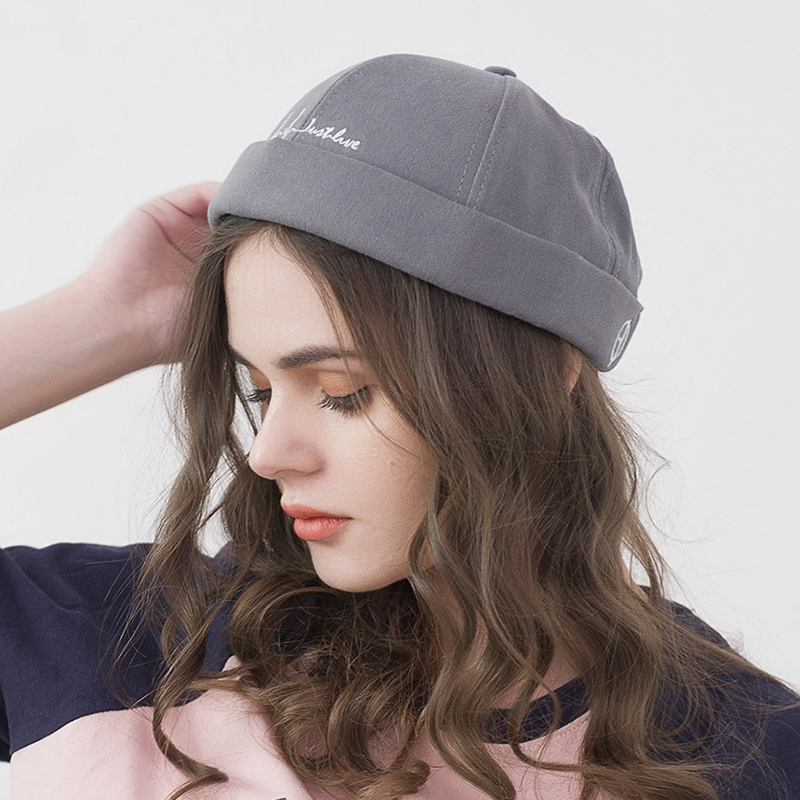 Retro Adjustable Cotton Round French Brimless Hats