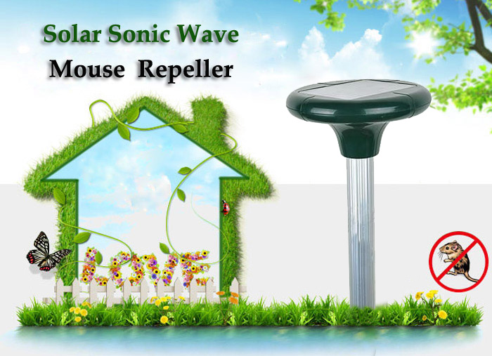 GreatHouse Garden Solar Power Sonic Wave Mouse Snake Repeller Outdoor Animal Expeller