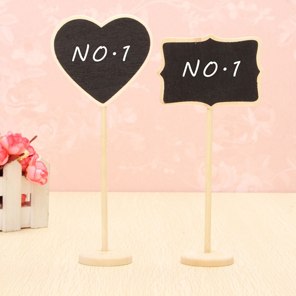 Wedding Wooden Chalkboard Blackboard Stand Holder Table Number for Wedding Event Decoration