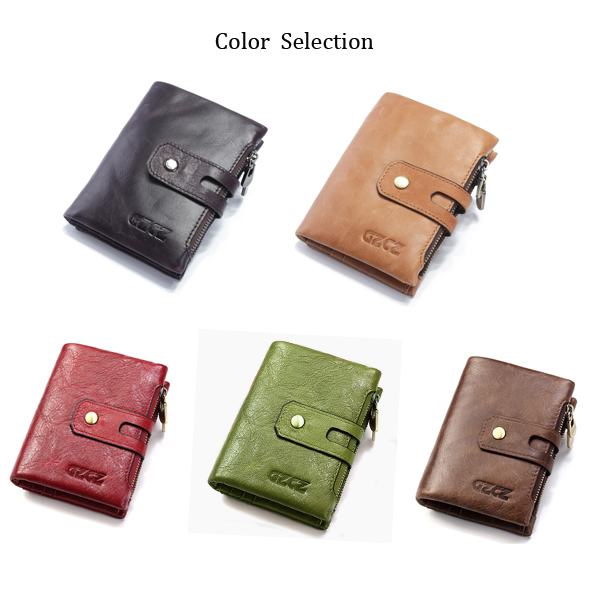 Men Women Retro Genuine Leather Wallet Card Holder