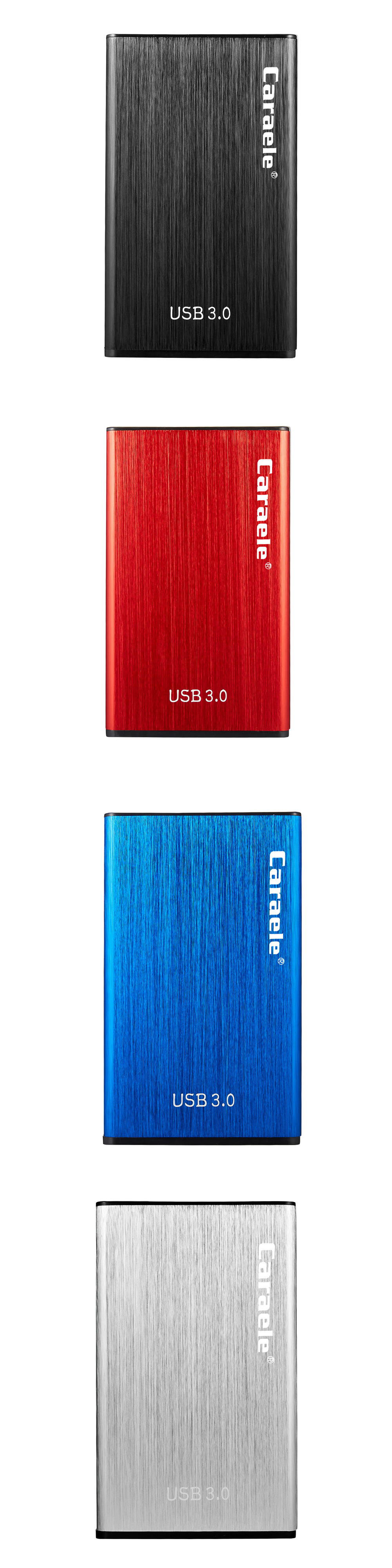 Caraele H5 USB 3.0 Portable External Hard Drive 500GB 1TB 2TB for Laptop Desktop TV PC
