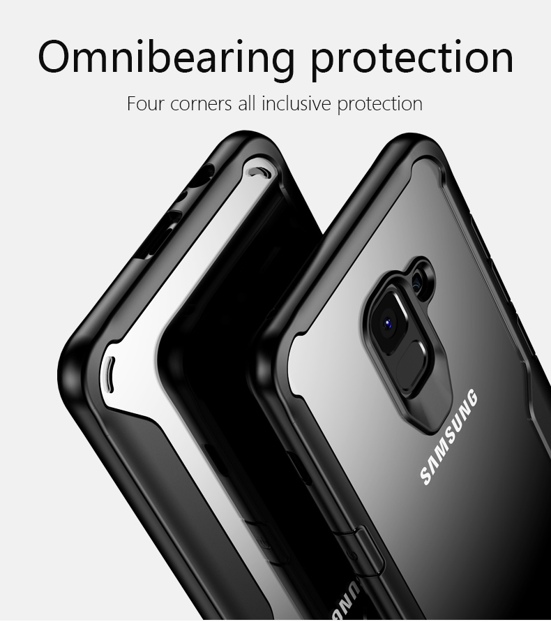 Bakeey Airbag Acrylic Transparent TPU Case for Samsung Galaxy A8 2018