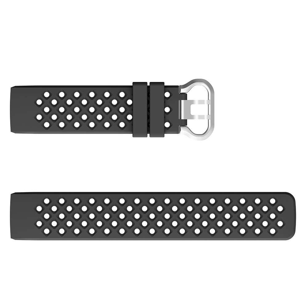 Bakeey Soft Silicone Strap Square Hole Watch Band for Fitbit Charge 3